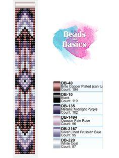 purple miyuki delica beadloom bracelet pattern
