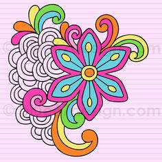 Hand-Drawn Notebook Doodle Abstract Flower- Vector Illustration by blue67design by blue67design, via Flickr