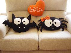 Bat Boy CUSHION Decorative plush pillow por lovelia en Etsy