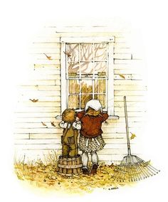 Holly Hobbie-I had a plaque on my bedroom wall with this picture.  My grandma made it.