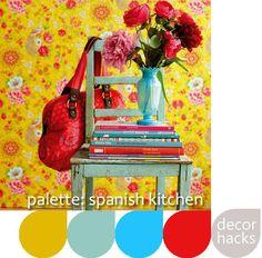 Spanish kitchen color palette