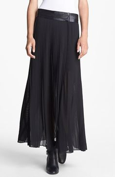 The Kooples Pleated Chiffon Maxi Skirt available at #Nordstrom