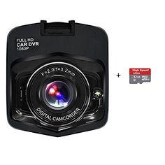 Wewdigi Mini Car DVR Camera GT300 Camcorder 1080P Full HD Video Registrator Parking Recorder G-sensor Night Vision Dash Cam black 32GB TF Card