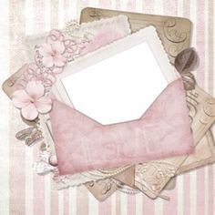 Scrapbook Albums, Scrapbooking Layouts, Book And Frame, Digital Texture, Borders And Frames, Decoupage Paper, Flower Frame, Paper Background, Vintage Paper