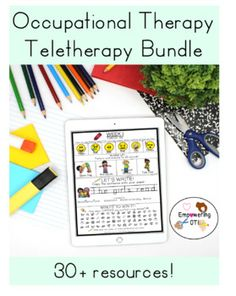 This is THE MEGA OCCUPATIONAL THERAPY TELETHERAPY RESOURCE YOU NEED TO SUPPORT YOUR STUDENTS THAT INCLUDES BOTH NO PRINT AND INCLUDES PRINTABLE RESOURCES TO MAKE PACKETS! No print resources (12 resources) and Printable resources or screen share for students to complete at home on own paper (19 resources) Pediatric Occupational Therapy, Handwriting Practice, Simple Colors, My Teacher, Social Skills, Pediatrics, Students, Printable, Activities