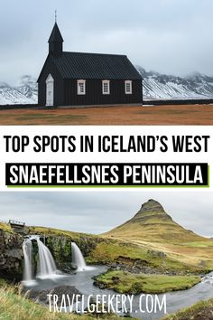 Snaefellsnes Peninsula in the West of Iceland belongs to the most beautiful parts of the country. Check what places to see in Snaefellsnes Iceland including driving information and accommodation guide. Includes top spots in West Iceland such as Kirkjufell waterfalls, Stykkisholmur town, dramatic cliffs and more. See the best of Iceland - perfect as a day trip from Reykjavik. #iceland #snaefellsnes #peninsula #travelgeekery Iceland Travel Tips, Europe Travel Guide, Spain Travel, Travel Guides, West Iceland, Reykjavik Iceland, Cool Places To Visit, Places To Travel, Travel Destinations