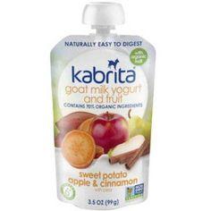 Kabrita Goat Milk Yogurt and Fruit, Sweet Potato, Apple and Cinnamon, 3.5 oz (Pack of 6)