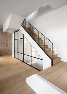 In the former Sint Lucia monastery in Bennebroek, The Netherlands, Bureau Fraai has made a interior design transforming a part of a characteristic monastery into a high-quality townhouse Interior Architecture, Interior Design, Modern Townhouse Interior, Exterior Stairs, Interiors Magazine, Staircase Design, Home Renovation, Home And Family, New Homes