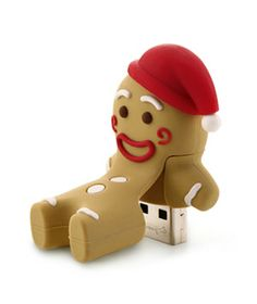Gingerbread Man Flash Drive... for the geek in your life... great stocking stuffer!  Keep all your Holiday files, recipes, decor ideas and photos on this.  :)