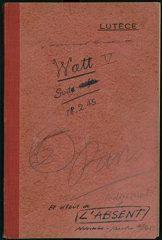 "Beckett's Watt, ""a white whale"" of a manuscript."