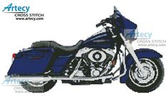 2006 Harley Davidson Street Glide Cross Stitch Pattern http://www.artecyshop.com/index.php?main_page=product_info&cPath=67&products_id=18