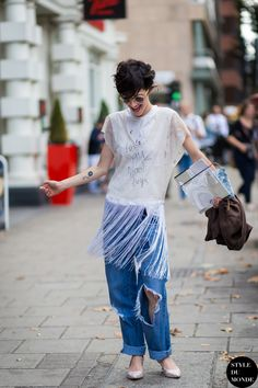 Violaine Bernard Street Style Street Fashion Streetsnaps by STYLEDUMONDE Street…