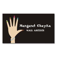 Manicurist nail artist woman hand business cards