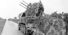 Quad Flak Gun in Normandy - June 1944 Photo Credit