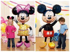 52 Inch  Plus Large Airwalker Mickey Mouse Helium Foil Balloon  BirthdayParty Decoration Children Party Supplier