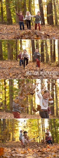 Playing in the leaves   durham fall family photography www.morganhendersonphotography.com