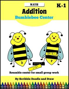 Kindergarten students will practice addition with this fun center activity.