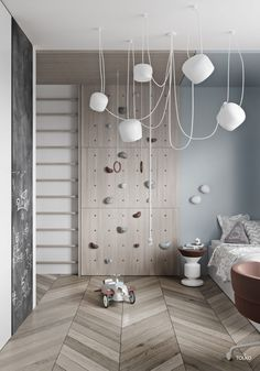 Cool Kids Room by TOL'KO Interiors – La Petite The post Cool Kids Room by TOL'KO Interiors appeared first on Woman Casual - Kids and parenting Cool Kids Rooms, Room Kids, Wall Decor Kids Room, Modern Kids Rooms, Room For Two Kids, Scandinavian Kids Rooms, Small Rooms, Kids Room Design, Deco Design