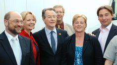 Mit Martin Schulz, Hannelore Kraft, Franz Müntefering und Sebastian Hartmann