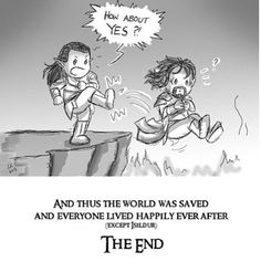 Ok this is very humorous (I laugh too), but it's not like Elrond to kick his brother's descendant into a volcano.
