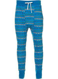 Blue Pattern Cropped Joggers ($20-50) - Svpply