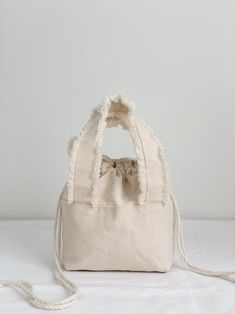 Your place to buy and sell all things handmade Fringe Handbags, Cotton Canvas, Studio, Trending Outfits, Natural, Unique Jewelry, Handmade Gifts, Etsy, Vintage