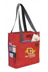 BIC Dual Carry Tote Bags made from 75g non-woven polypropylene with side multi-media, pen and business card pockets, and a boarded bottom, from the Redbows promotional bags range.Size of 360x400x160 mm and print are of 152x203 mm to showcase your brand .Priced ranges from £2.31to £2.80 depending on order quantity.Order Quantity ranging from 50 to 500 units