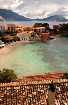 Assos. Kefalonia Island, Greece! Looks like nice town!