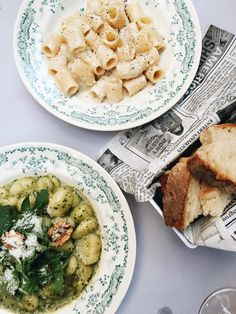caccio e pepe and pesto gnocci at Dilla | Rome travel guide from coco kelley