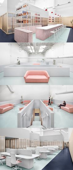 Campari Offices, Toronto - Canada - The Cool Hunter Workspace Design, Office Workspace, Office Interior Design, Interior Exterior, Office Interiors, Interior Design Inspiration, Home Office, Interior Architecture, Corporate Office Design