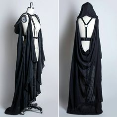"""Draped Cape Harness  with hood"