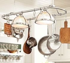 Sawyer Pot Rack Pendant #potterybarn