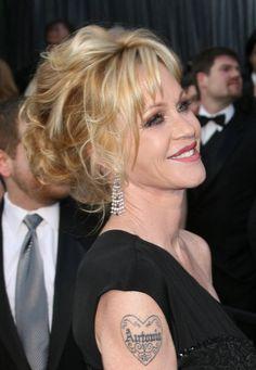 Melanie Griffiths gorgeous updo