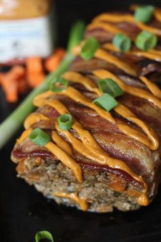 Oh my word. This Bacon Chorizo Chipotle Smothered Meatloaf from PaleOMG looks amazing!