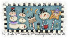 """Great E-Pattern!  """"I Just Love Snow"""" by PaintingwithDeb on Etsy"""