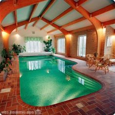 wonderful pool indoor decoration ideas elegant pool indoor design for classic home with wooden ceiling