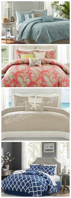 The perfect way to update your bedroom retreat for summer (or anytime). Just add a hint of the coast - which ever coast fits your lifestyle best!