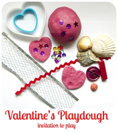 Frog in a pocket: Valentine's Playdough - simple play invitation