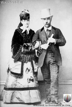 Vicuña Mackenna y esposa Victoria Subercaseaux 1867