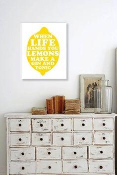 When Life Hands You Lemons Laminate Box Wall Art