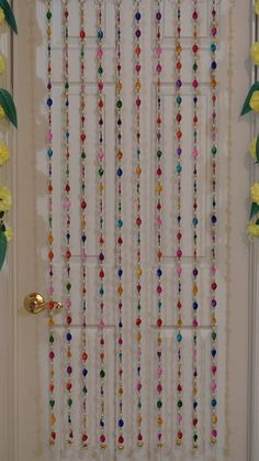 10 PC set of colorful beaded curtains Hippie window Beaded | Etsy