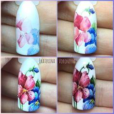 Пошаговый дизайн маникюр идеи цветы
