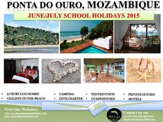 Accommodation in Ponta Do Ouro School Holidays, Log Homes, Motel, Diving, Safari, Camping, Luxury, Beach, Timber Homes