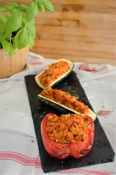 Nom Nom, Stuffed Peppers, Fish, Vegetables, Vegetarische Rezepte, Meal, Eat, Dish