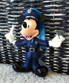 Amazon.com: Disney Policeman Mickey Mouse Figurine Ornament Police NEW: Home & Kitchen