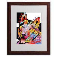 Trademark Art 'Siberian Husky' Framed Graphic Art Print on Canvas