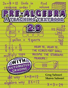 Teaching Textbooks - PreAlgebra - Andrew's 7th grade Math curriculum 2013-2014