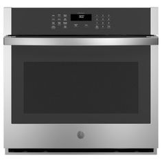 GE 30 in. Smart Single Electric Wall Oven Self-Cleaning in Stainless Steel - - The Home Depot Single Electric Oven, Electric Wall Oven, Self Cleaning Ovens, Steam Cleaning, Heavy Duty Racking, Stainless Steel Oven, Built In Microwave, Oven Racks
