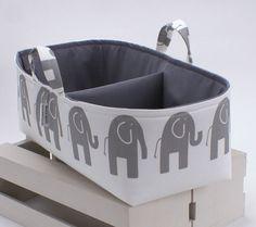 XL Long Diaper Caddy Storage Bin Basket by TheStorageLoft on Etsy, $52.00 Turquoise on the inside to match nursery!