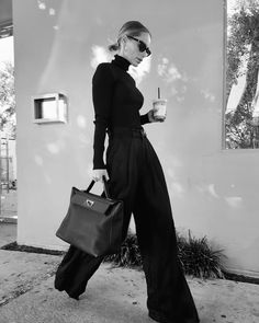 Anine Bing, Professional Outfits, Head To Toe, Black And White Photography, Vintage Looks, Work Wear, Street Style, My Style, Stylish